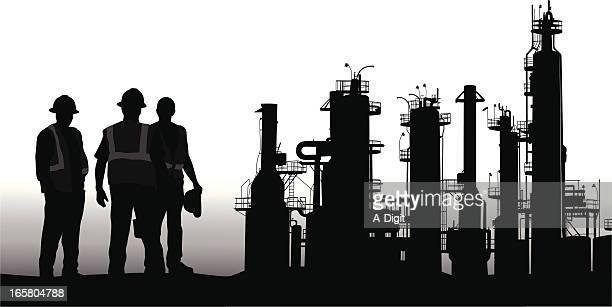 Refinery Vector Silhouette