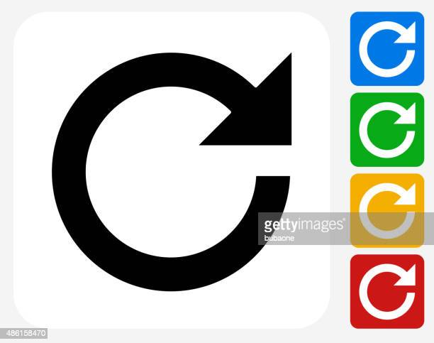 Refresh Arrow Icon Flat Graphic Design
