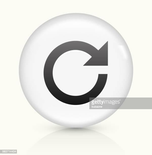 Refresh Arrow icon on white round vector button