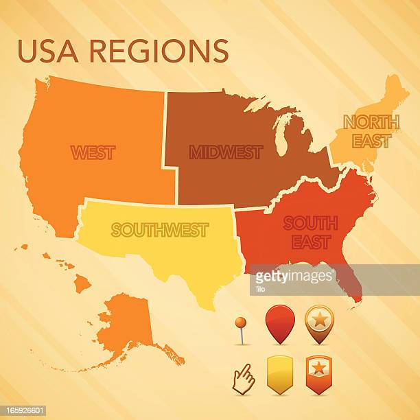 USA carte de la région