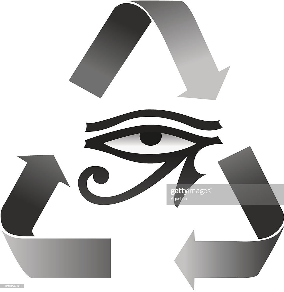 Reincarnation Symbol With Horus Eye Vector Art | Getty Images
