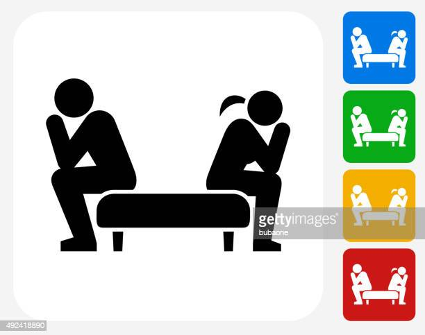 Relationship Problems Icon Flat Graphic Design