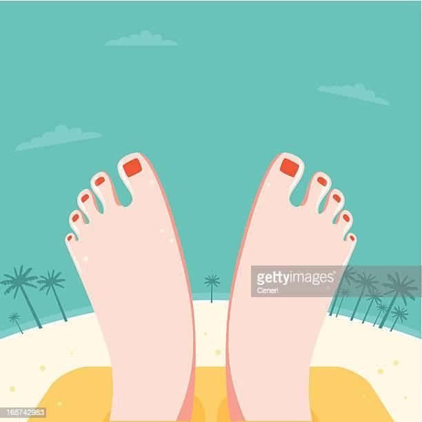 Relaxed Feet at a beach