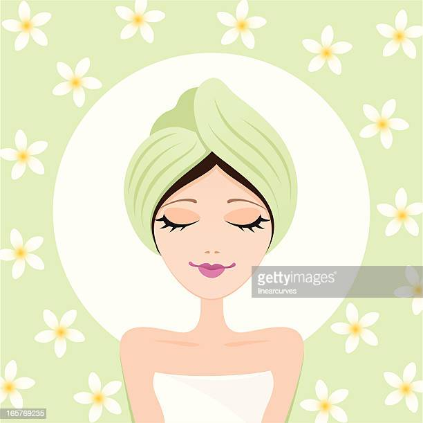 Relaxing spa girl