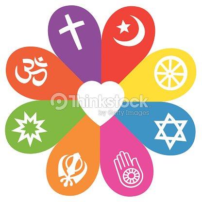 Religion Symbols Flower Love Colors Vector Art Thinkstock