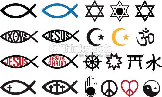 Religious Symbols Religion Signs Vector Set Vector Art Thinkstock