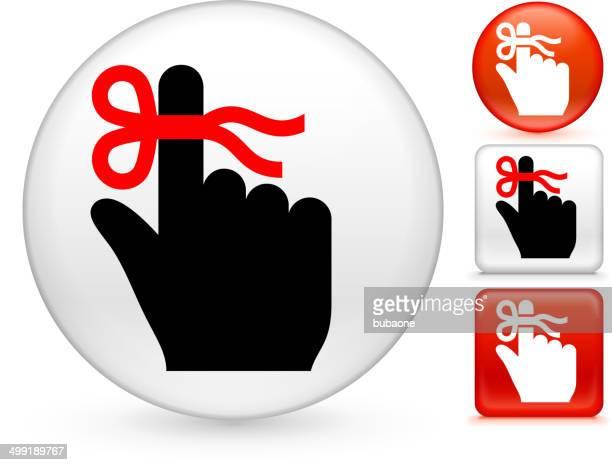 Clipart vectoriel libre de droits de rappel bouton Set