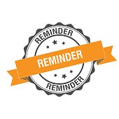 Reminder stamp illustration design