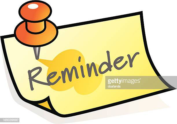 Clip Art Calendar Reminder : Reminder stock illustrations and cartoons getty images