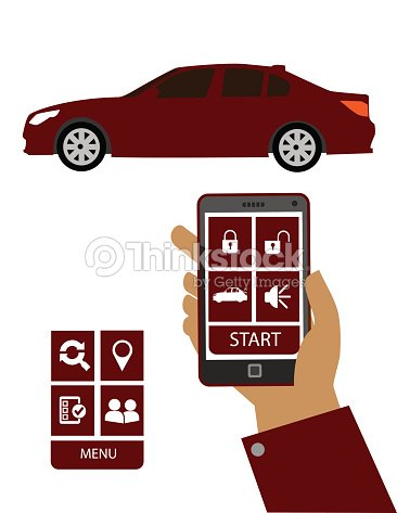 Remote Car Starter App >> Remote Car Starter App Vector Art Thinkstock