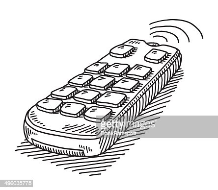 remote control drawing. keywords remote control drawing getty images