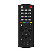 TV remote control. Vector 3d illustration isolated on white background