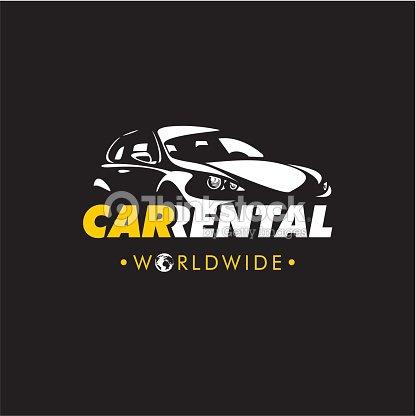 rent a car logo vector art thinkstock