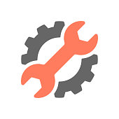 Repair control group, service industry symbol vector illustration. EPS 10