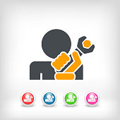 Repairman concept icon illustration