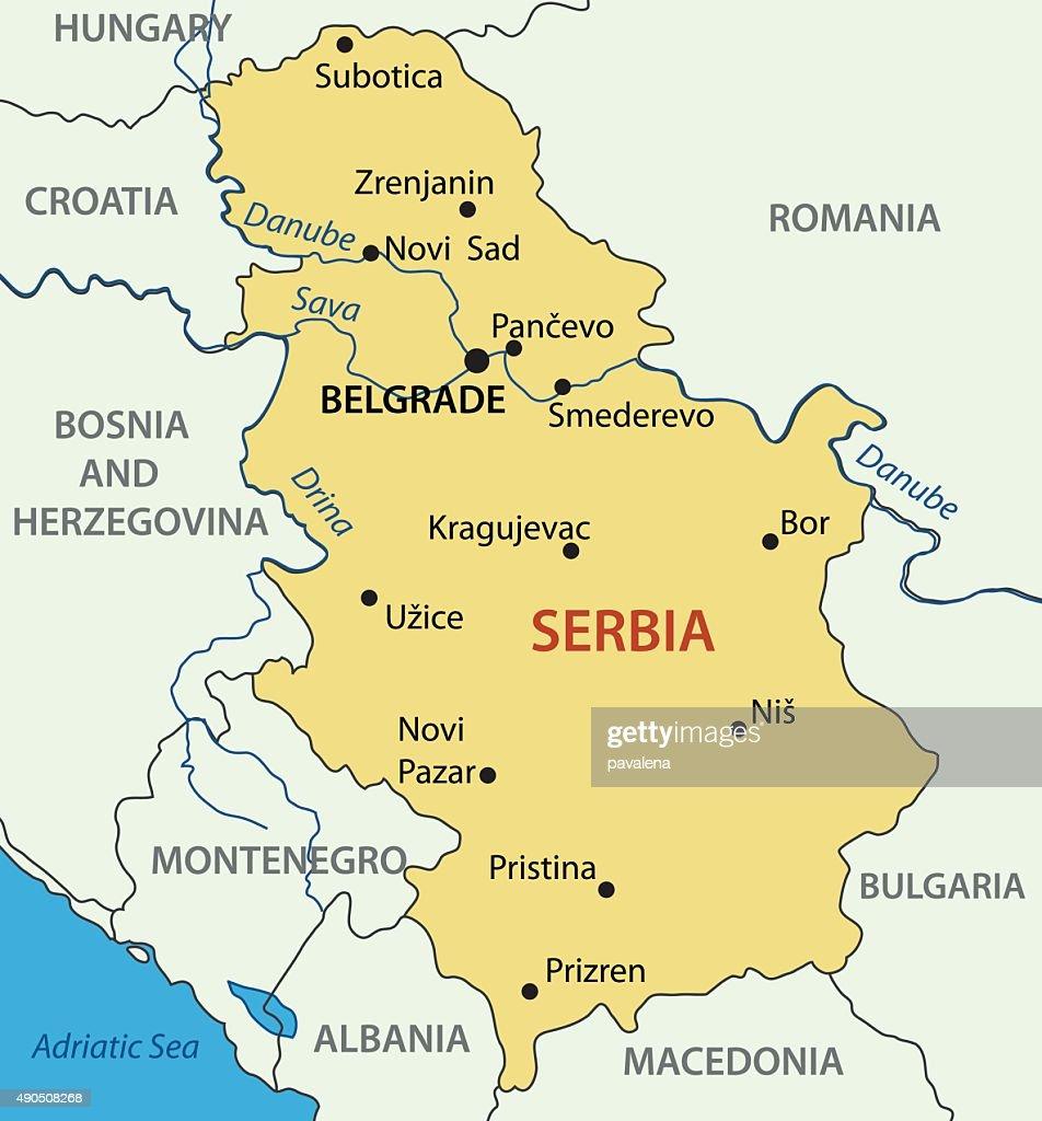 Republic Of Serbia Vector Map Vector Art Thinkstock