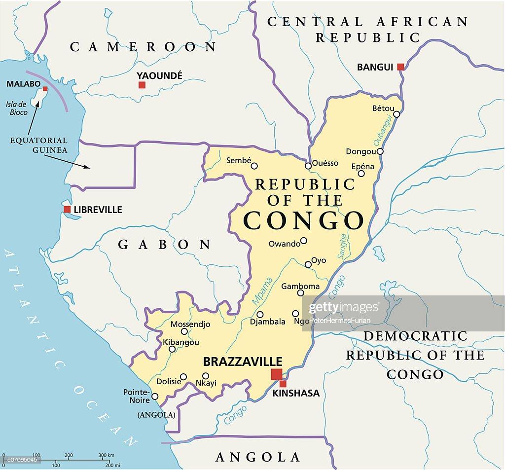 Republic Of The Congo Political Map Vector Art Thinkstock