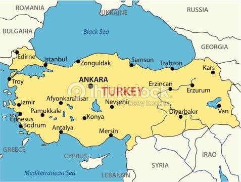 Republic Of Turkey Vector Map Vector Art   Thinkstock