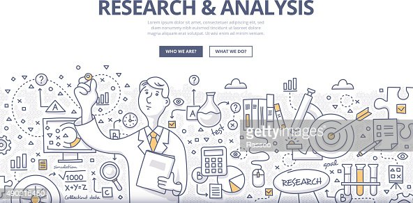 Research Analysis Doodle Concept Vector Art  Thinkstock