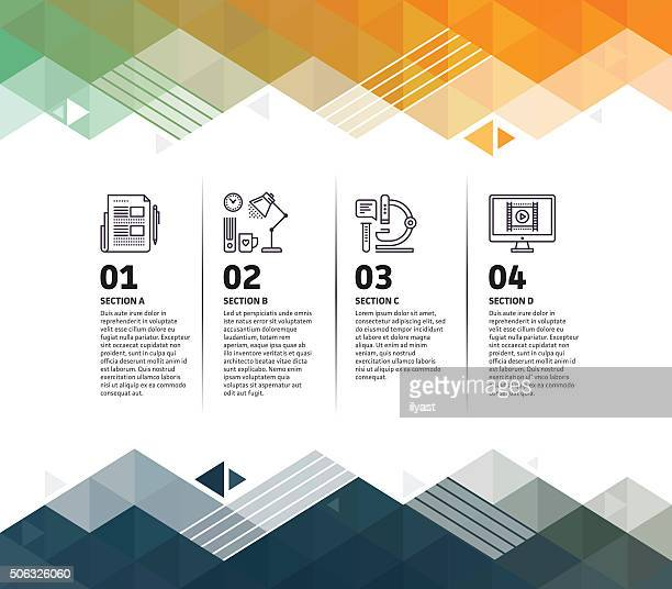 Research-Infografik abstrakter Hintergrund