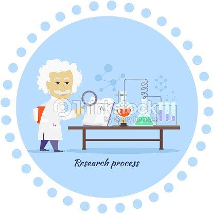 research process icon flat design vector art thinkstock