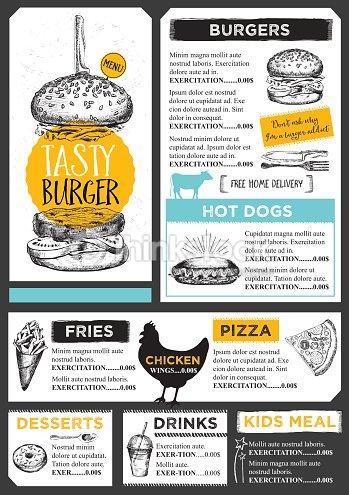 Restaurant Cafe Menu Template Design Vector Art Thinkstock - Delivery menu template