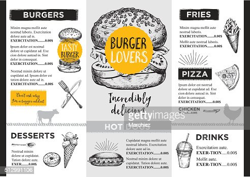 Restaurant Cafe Menu Template Design Vector Art  Thinkstock