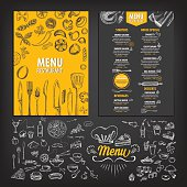 Restaurant food menu.