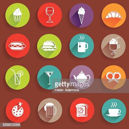 Restaurant Icons : Vector Art