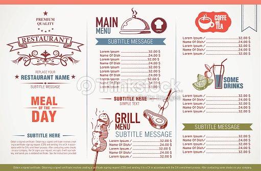 Restaurant menu design vector art thinkstock