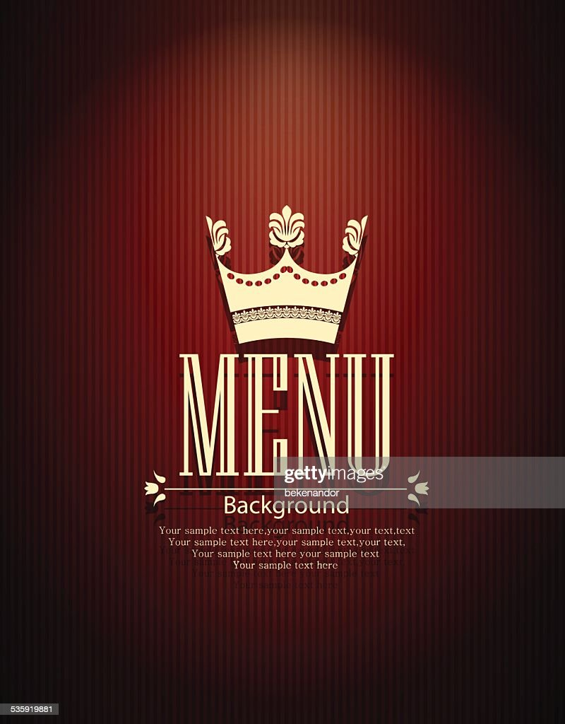 Restaurant menu design : Vector Art