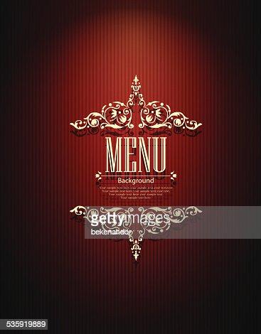 Restaurant menu design : Vector Art