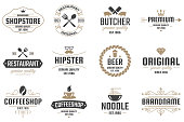 Restaurant Retro Vector Logo for banner, poster, flyer