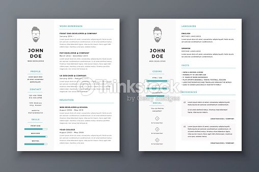 resume and cv vector template awesome for job applications vector
