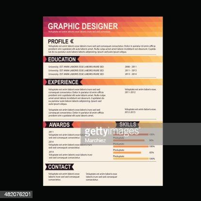 Resume Template Cv Creative Background Vector Art | Thinkstock