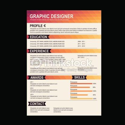 resume template cv creative background vector art thinkstock