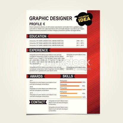 resume template cv creative background vector art thinkstock