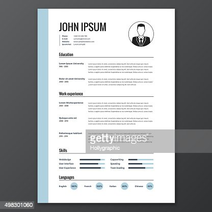 Cv Resume Template Vector Art Thinkstock