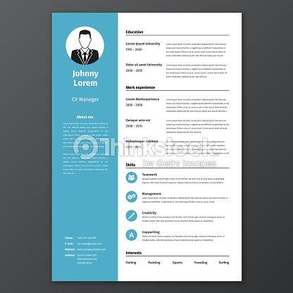 Cv Resume Template Vector Art | Thinkstock