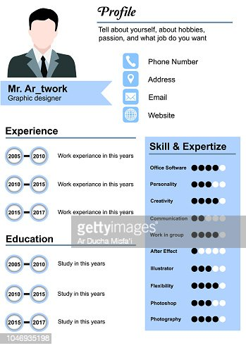 Resume Templates Vector Art Thinkstock