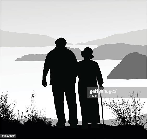 Retired Couple Amazing View Hike