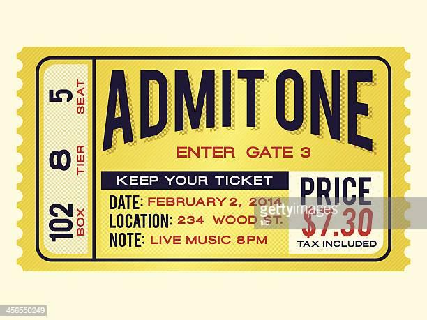 Retro Admission Ticket