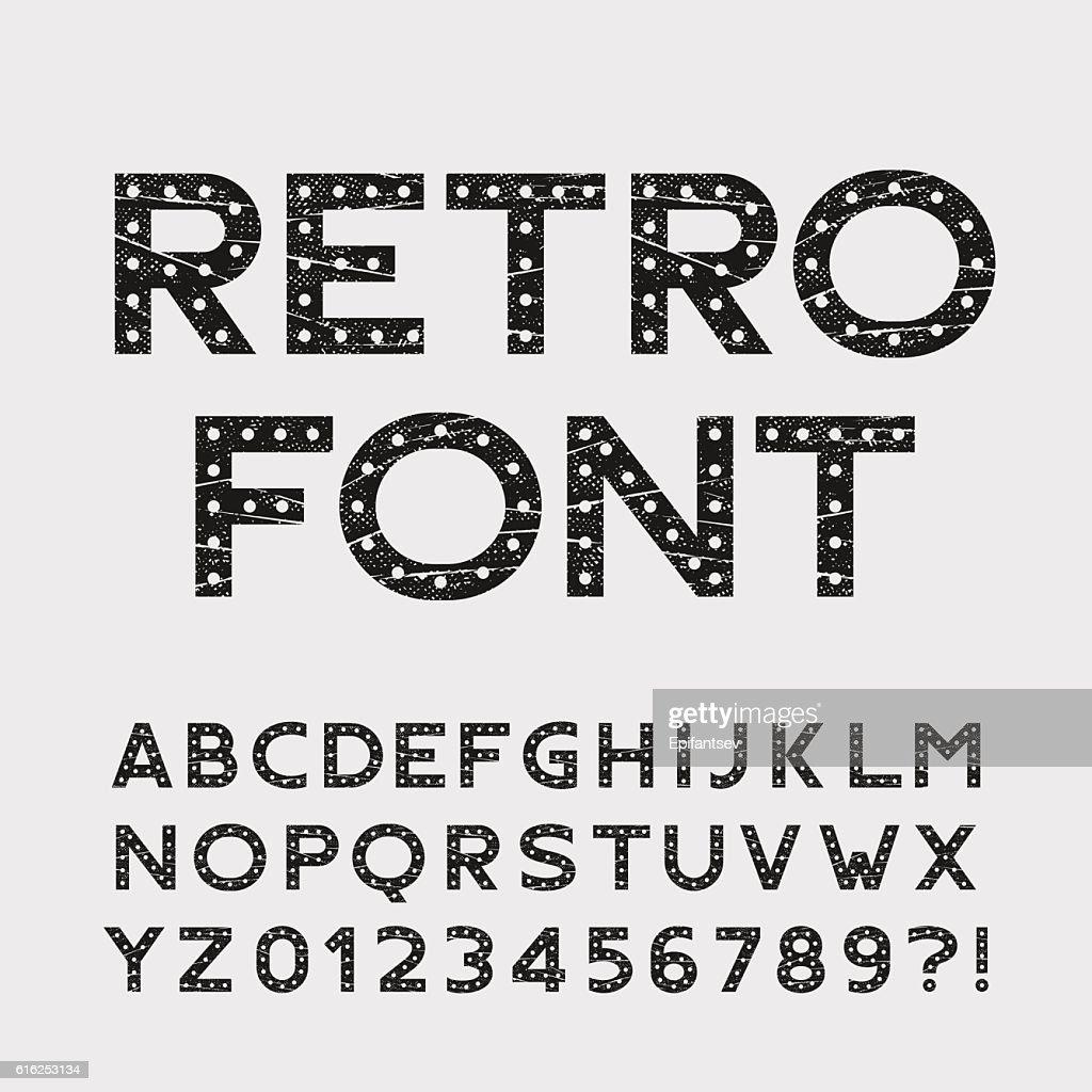 Retro alphabet font : Arte vetorial