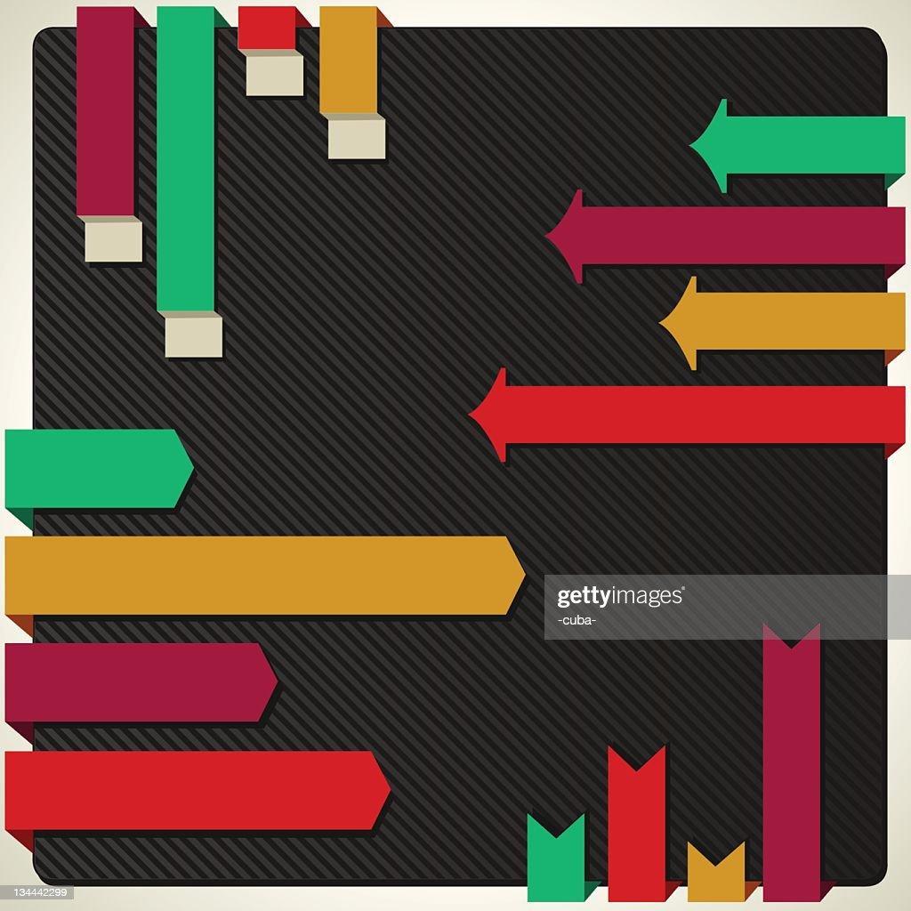 Retro bar graphs collection