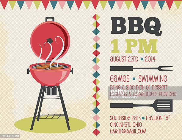 Retro BBQ Invitation Template