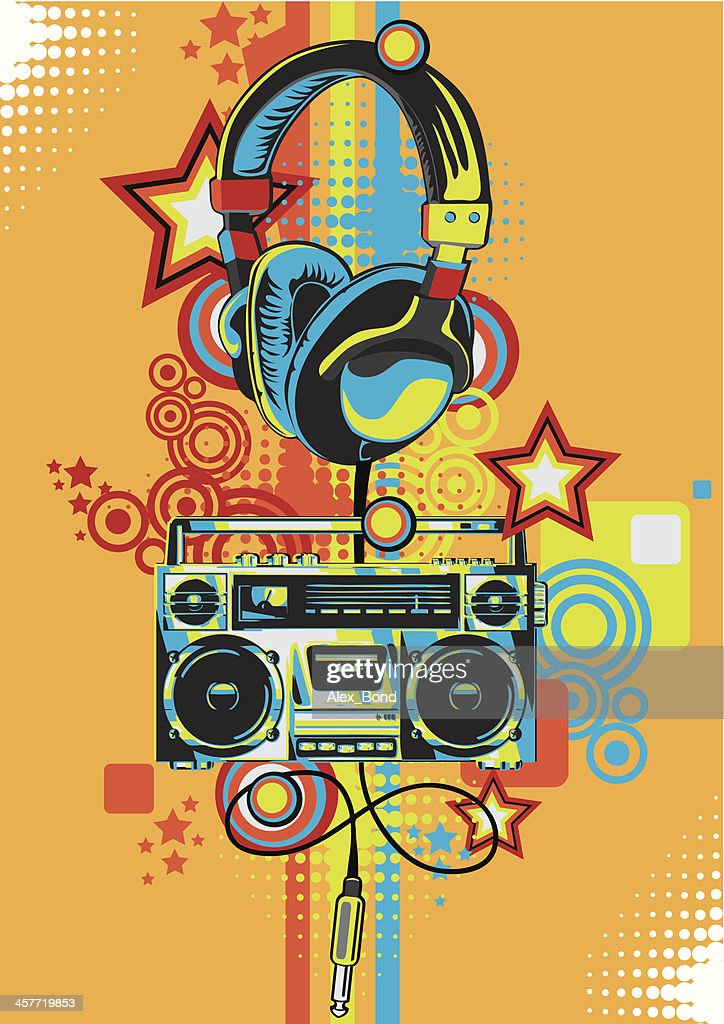 Retro Boombox Vector Art | Getty Images