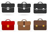 Retro briefcase. Flat design, vector illustration, vector.