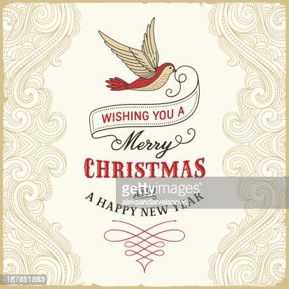 retro christmas greetings background - Christmas Slogans