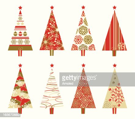 retro christmas tree vector art getty images - Retro Christmas Trees