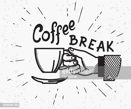 Retro coffee break crafted illustration : stock vector